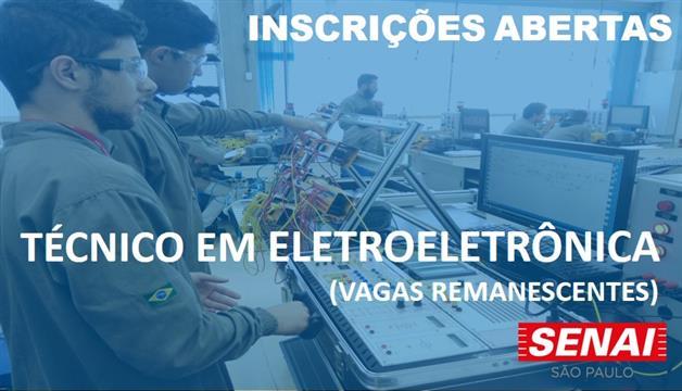 ac03e1c36fde INSCRIÇÃO PARA O CURSO TÉCNICO DE ELETROELETRÔNICA - (Vagas Remanescentes)